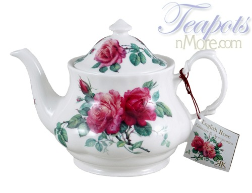 Roy Kirkham English Roses Bone China 6 Cup Teapot