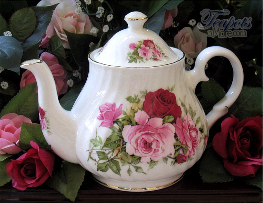 Summertime Rose 6 Cup Teapot