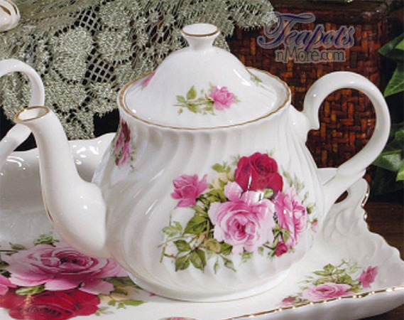 Summertime Rose 2 Cup Teapot