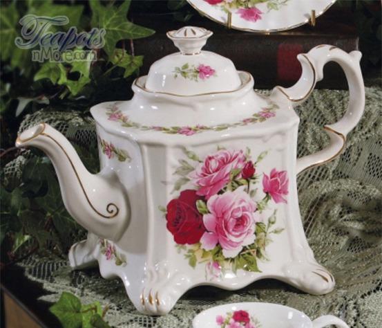Summertime Rose 8 Cup Teapot