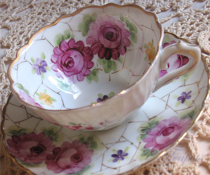 Handpainted Vintage Tea Cup